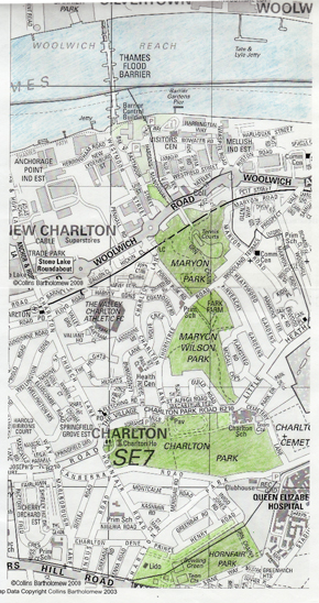Green Spaces Map